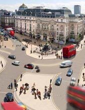 Piccadilly Circus open to 2 way traffic