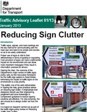 DfT Advice Note: Reducing Sign Clutter