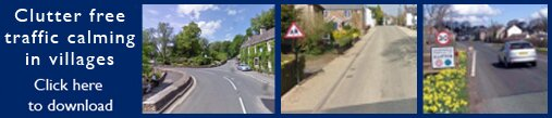 Clutter free village traffic calming